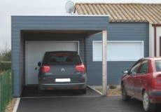Extension bois garage et carport